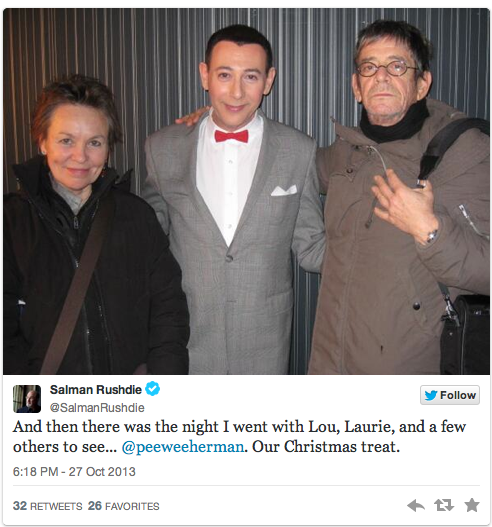 Lou Reed and Laurie Anderson and Pee Wee Herman