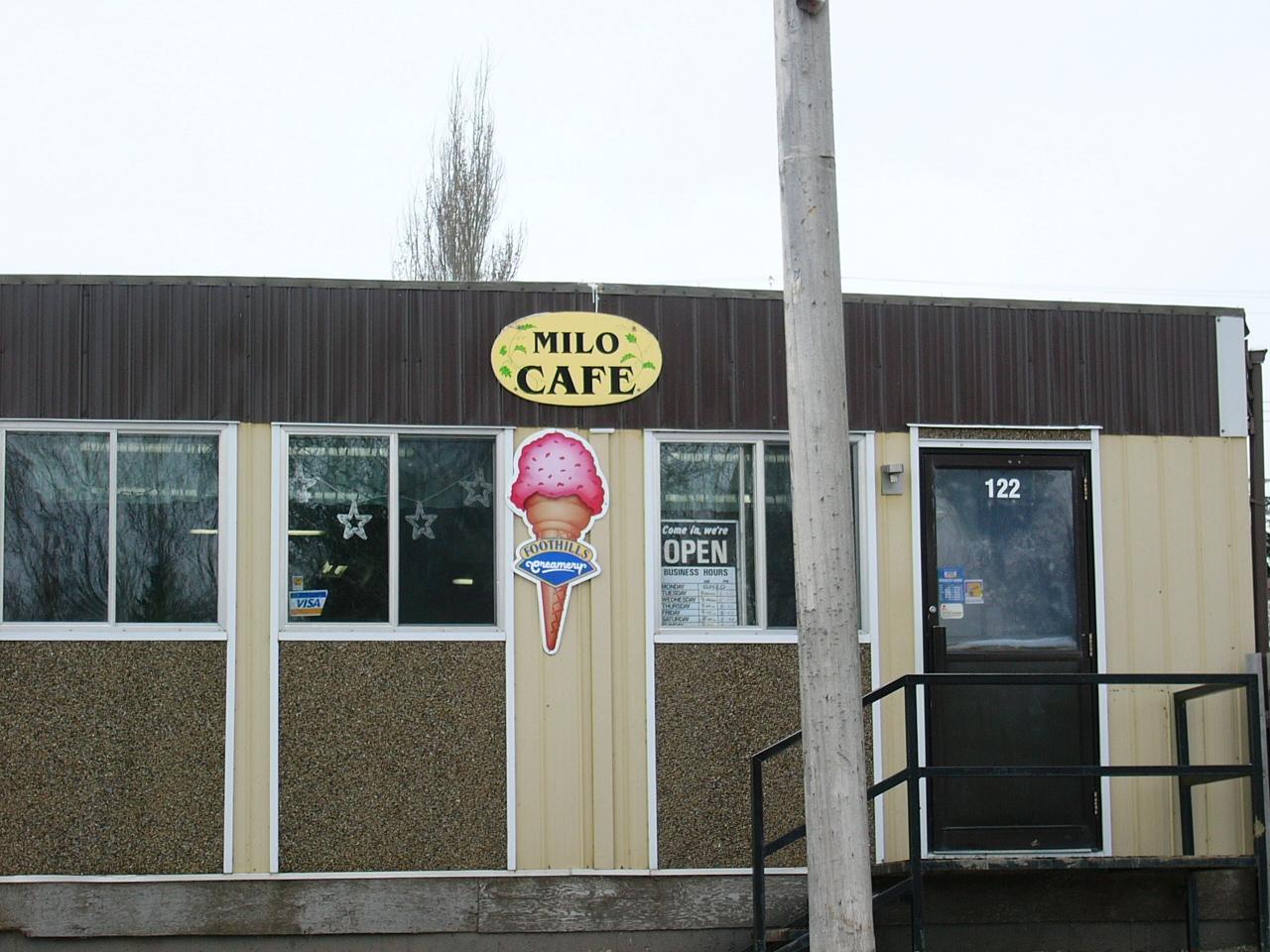 The Milo Cafe, Milo, AB
